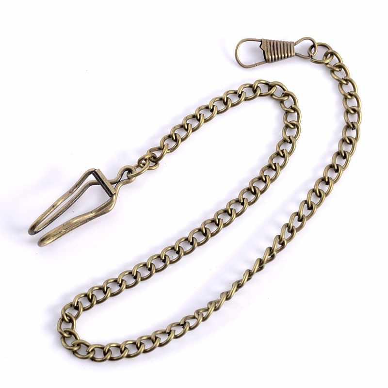 שרשרת שעון כיס סגסוגת באיכות גבוהה בחנויות ניו הגעה שחור/כסף/זהב/ברונזה 4 צבעים עבורך בחירה