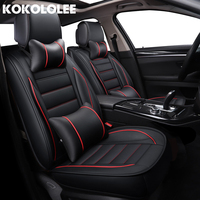 Kokololee Pu Leather Car Seat Covers For Kia Rio 4 Renault Captur Nissan Mercedes W204 Peugeot