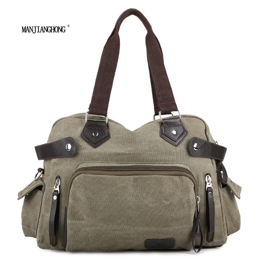 цена на 2017 New Canvas Leather Crossbody Bag Men Vintage Messenger Bags Shoulder Bag Casual Travel Bags