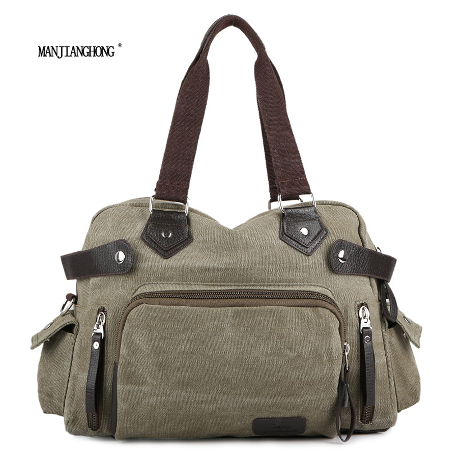 2017 New Canvas Leather Crossbody Bag Men Vintage Messenger Bags Shoulder Bag Casual Travel Bags