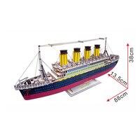 Kolorowe Titanic Modelu 3D Puzzle drewniane zabawki Dla Dzieci zabawki Drewniane Puzzle zabawki Edukacyjne dla Dzieci Prezent Na Boże Narodzenie