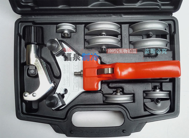 Manual Pipe Bender Copper Tube Expander Tube Expanding Tool Kit 1/4'' to 1/2''MM 6/8/10/12mm WK-666