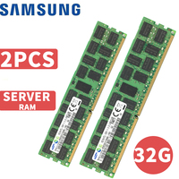 Samsung памяти ПК Оперативная память Memoria модуль компьютера сервера 16 ГБ 16 г DDR3 PC3 1333 1600 1866 мГц 10600 12800 14900 R 2x16 ГБ = 32 ГБ