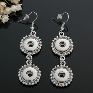 Image 5 - 10 pairs womens interchangeable 12mm DIY Charm mini snap on button jewelry earrings