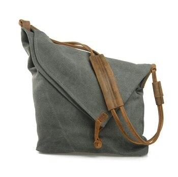 M023 Women Messenger Bags Female Canvas Leather Vintage Shoulder Bag Ladies Crossbody Bags for Small Bucket Designer Handbags 7