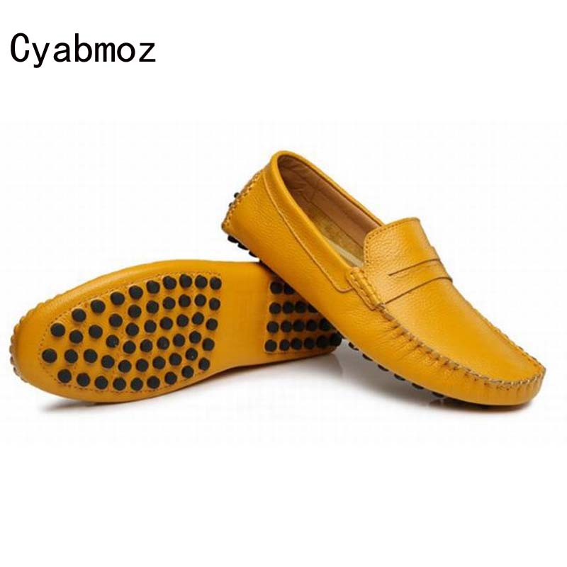Fashion Popular Men Flat Shoes Genuine Leather Breathable Moccasins Male Brand Casual Shoes Lazy Soft Loafers Creepers Peas shoe vesonal footwear brand men shoes casual male moccasins driving for ons popular quality walking soft genuine leather loafers man
