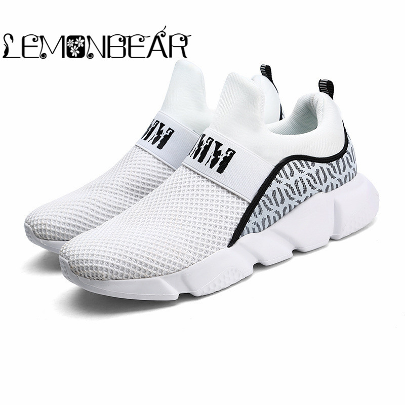 Marque Automne Hommes Chaussettes Sneaker Respirant Maille Mâle Occasionnel Chaussures Slip sur Chaussette Chaussures Mocassins Garçons Super Lumière Chaussette Formateurs paresseux