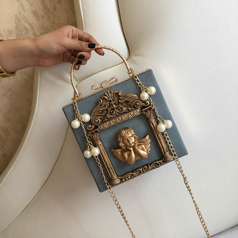 2018 NEW Rose 3D Palace Sculpture Frame Bag Luxury Handbags Women Party Bags Designer Lady Cute Shoulder Messenger Bag Sac Tote 3