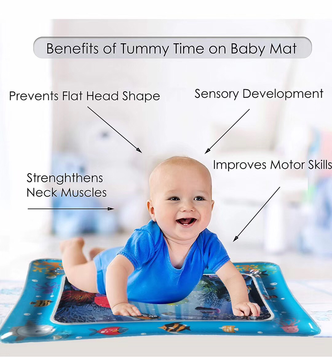 HTB11OCDL9zqK1RjSZFHq6z3CpXa1 Hot Sales Baby Kids water play mat Inflatable Infant Tummy Time Playmat Toddler for Baby Fun Activity Play Center DropshipTSLM1