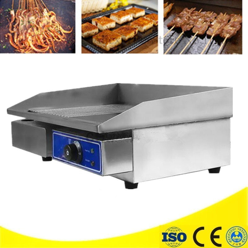Best Sale Commercial Stainless Steel Electric Griddle 3KW/220V Half Flat Pan Electric Grill Teppanyaki Dorayaki 6 4 4m bounce house combo pool and slide used commercial bounce houses for sale