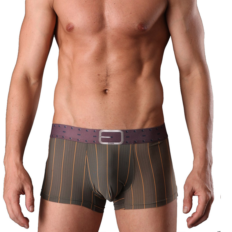 Panties Viscose Leopard-Print Trunk Silky Men's Plus-Size Fashion 3 1111918 CUA Male
