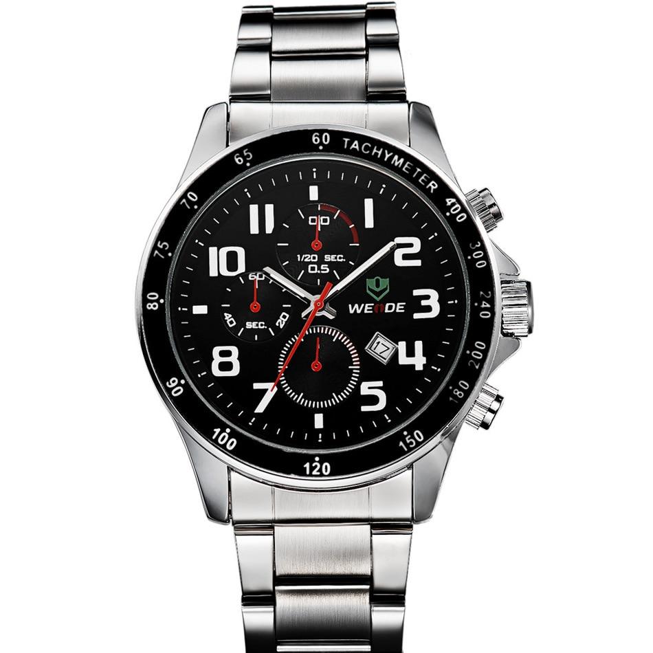ФОТО Luxury Brand WEIDE Watch Men Fashion Male Quartz Business Watches Sports Waterproof Military stainless Steel Relogio Masculino