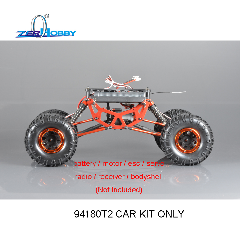 HSP RACING RC CAR ROCK CRAWLER 1/10 ELECTRIC 4WD OFF ROAD CRAWLER 94180T2 KIT ONLY 02023 clutch bell double gears 19t 24t for rc hsp 1 10th 4wd on road off road car truck silver