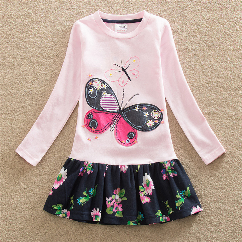 2019   Girls     Dress   Vestidos Kids Vestido Infantil Roupas Infantis Menina Long Sleeve Robe Fille   Flower     Girl     Dresses   Cute Butterfly