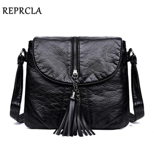 19aab9378078 REPRCLA New Designer Shoulder Bag Soft Leather Handbag Women Messenger Bags  Crossbody Fashion Women Bag Female Flap Bolsa