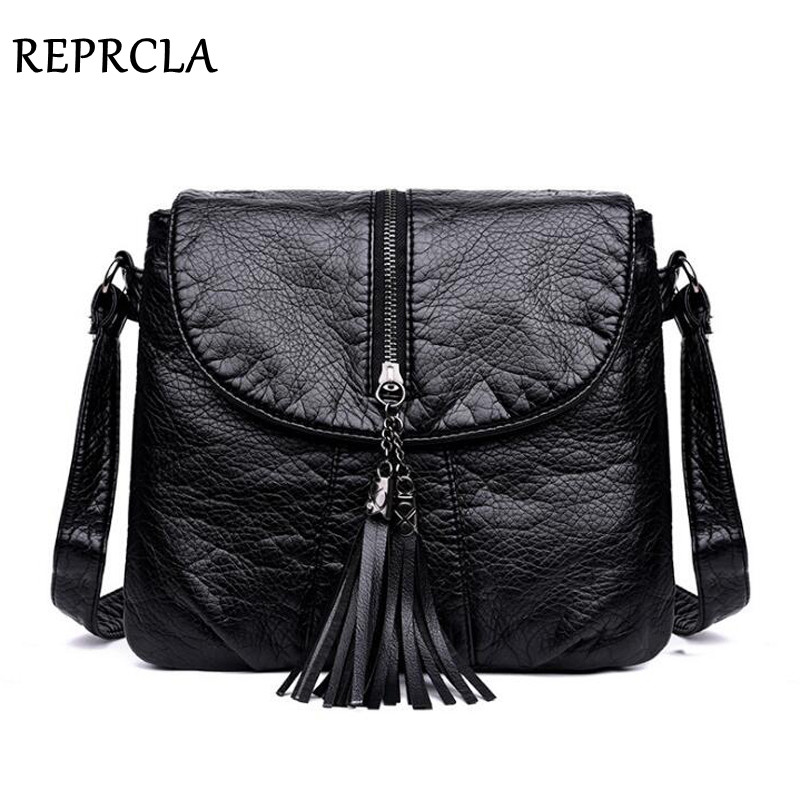 REPRCLA New Designer Shoulder Bag Soft Leather Handbag Women Messenger Bags Crossbody Fashion Women Bag Female Flap Bolsa
