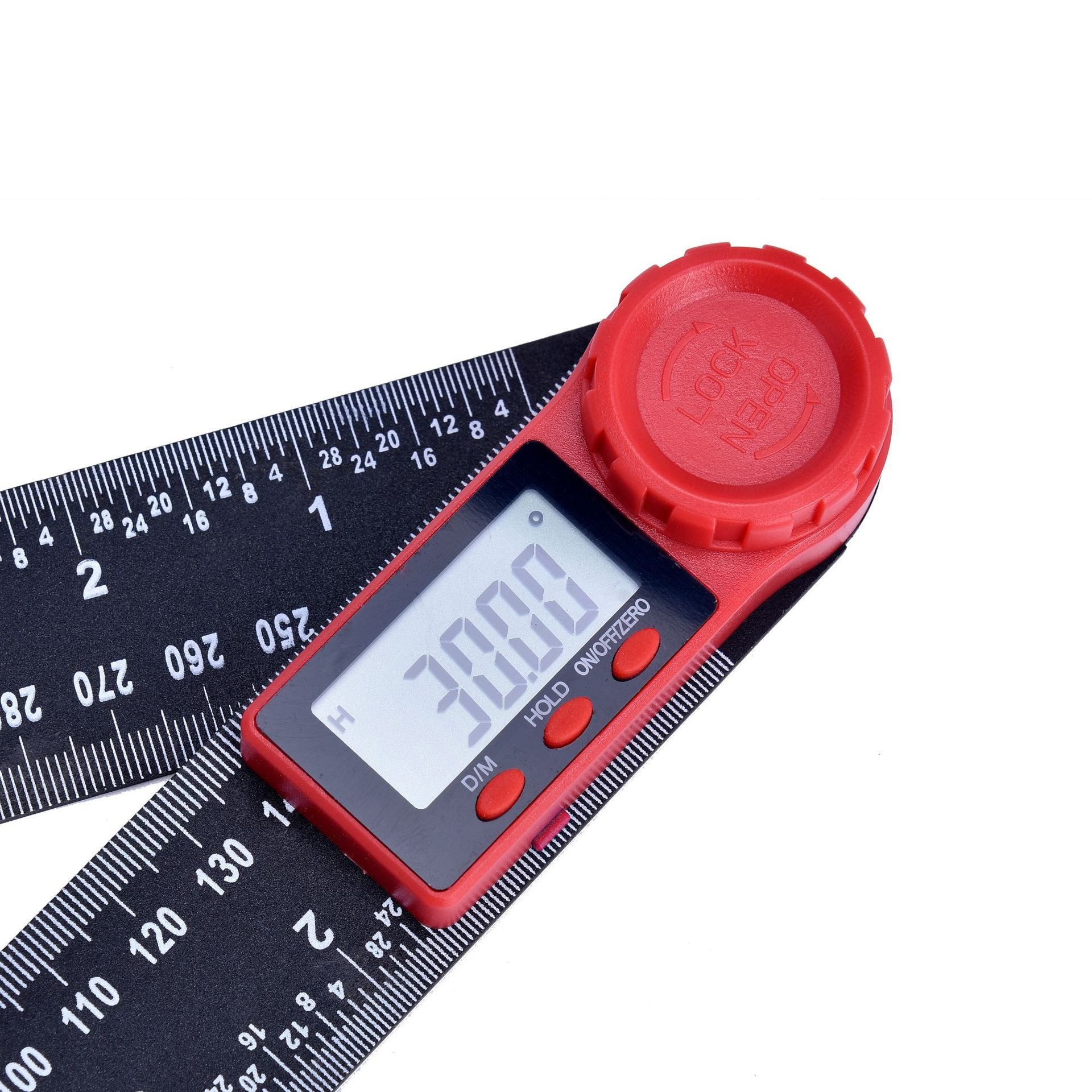 Image 3 - 0 200mm 8'' Digital Meter Angle Inclinometer Angle Digital Ruler Electron Goniometer Protractor Angle finder Measuring Tool-in Protractors from Tools