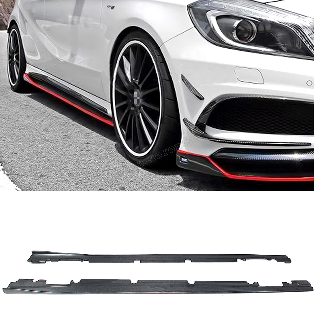 Discount Mercedes Parts >> new brand Carbon Fiber side skirts ,car side skirt For Mercedes Benz A250 A260 A45 2013UP-in ...