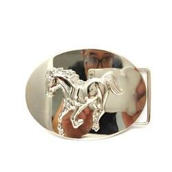 Ковбои из западного пряжка на ремешке Pegasus два-кусок металла человек пряжка на ремешке для 4.0