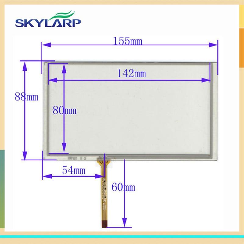 skylarpu 6.2 inch touch screen 155mm*88mm for TM062RDH03 PW062XS8 digitizer panel glass
