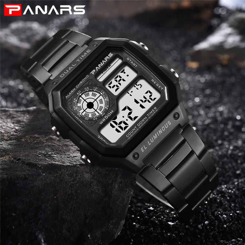 4a97be0c128 Relógio esportivo Homens Kol Saati relógio de Pulso À Prova D  Água Relógio  Eletrônico Relógio