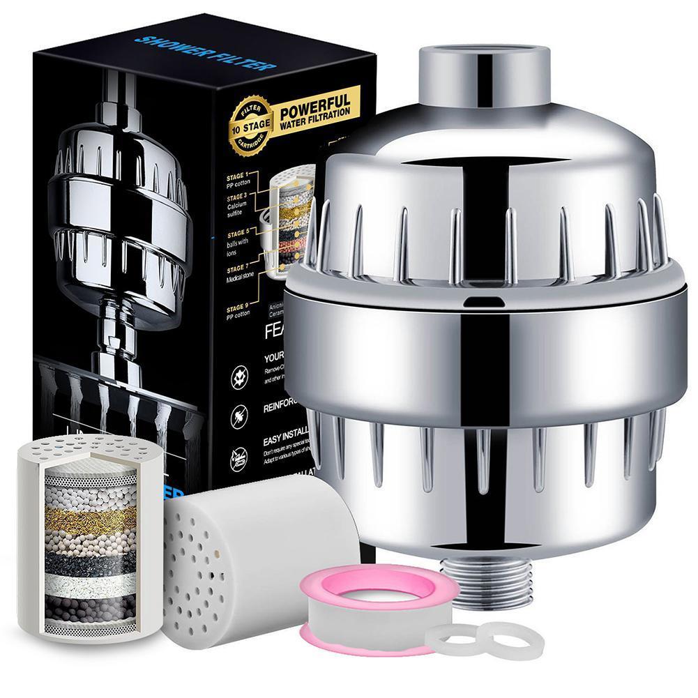 Набор фильтров для душа 10-15 слоев, фильтр для воды, фильтр для удаления хлора, принадлежности для ванной комнаты