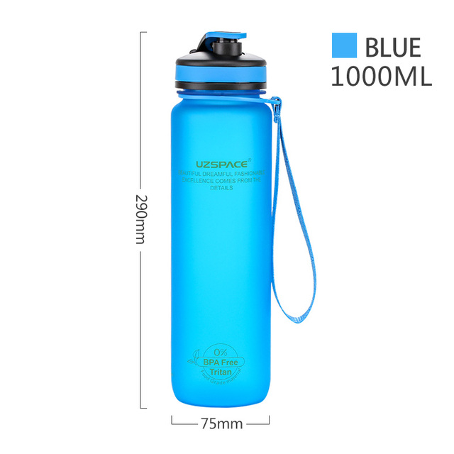 Newdora Sports Water Bottle Fast Flow Flip Top Leak Proof Lid w//One Click Open Non-Toxic BPA Free /& Eco-Friendly Tritan Co-Polyester Plastic