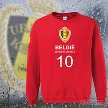 Belgium nation team hoodies men sweatshirt polo sweat suit streetwear footballes jerseyes tracksuit Belgian flag 2017 Belgique