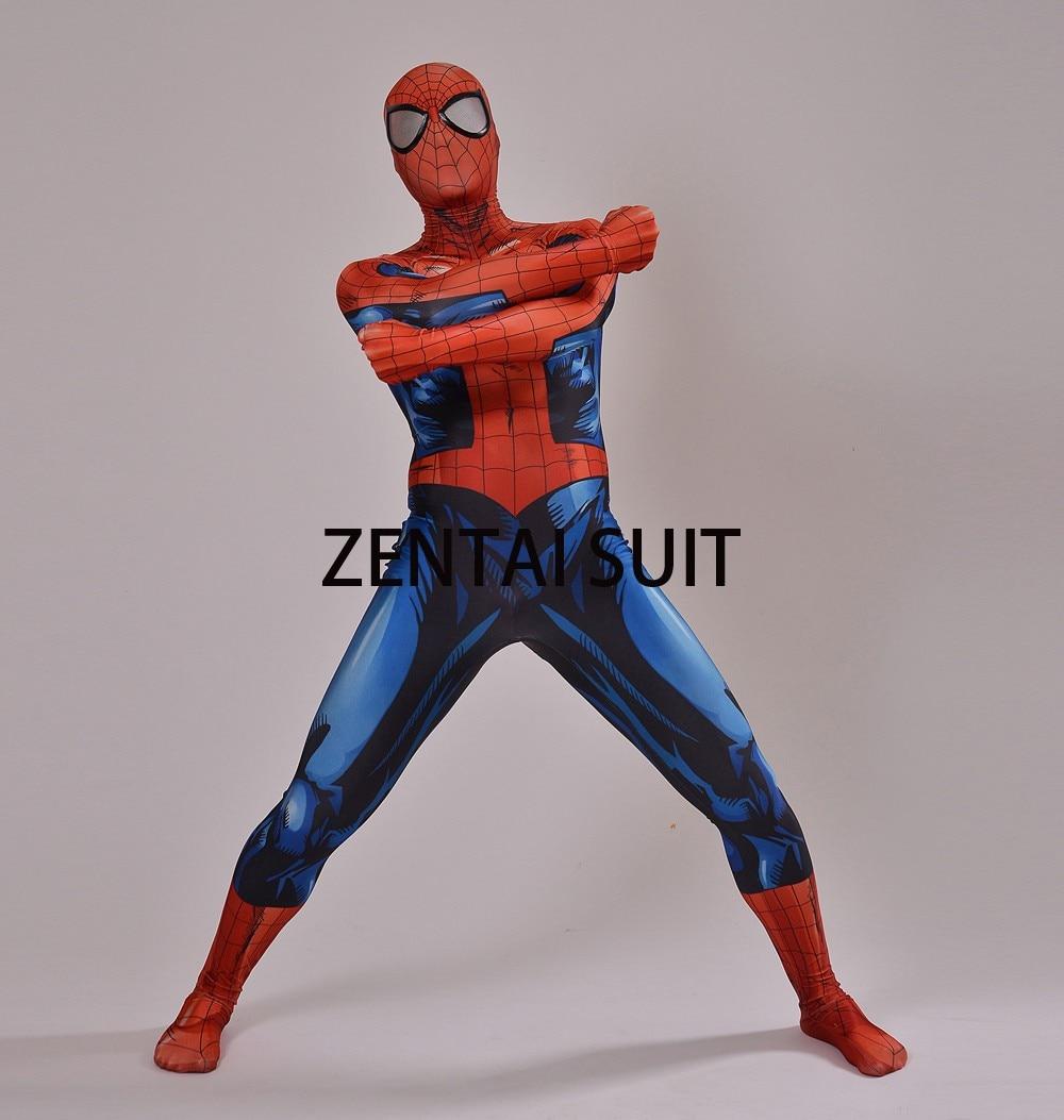 2016 Nuevo Último Traje de Spiderman Spandex Sombra 3D Traje de - Disfraces - foto 5