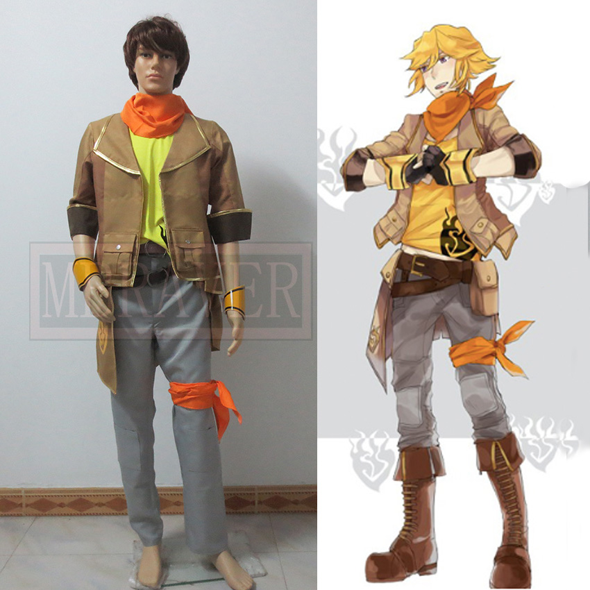 Anime RWBY Yang Xiao Long transsexual Cosplay Costume