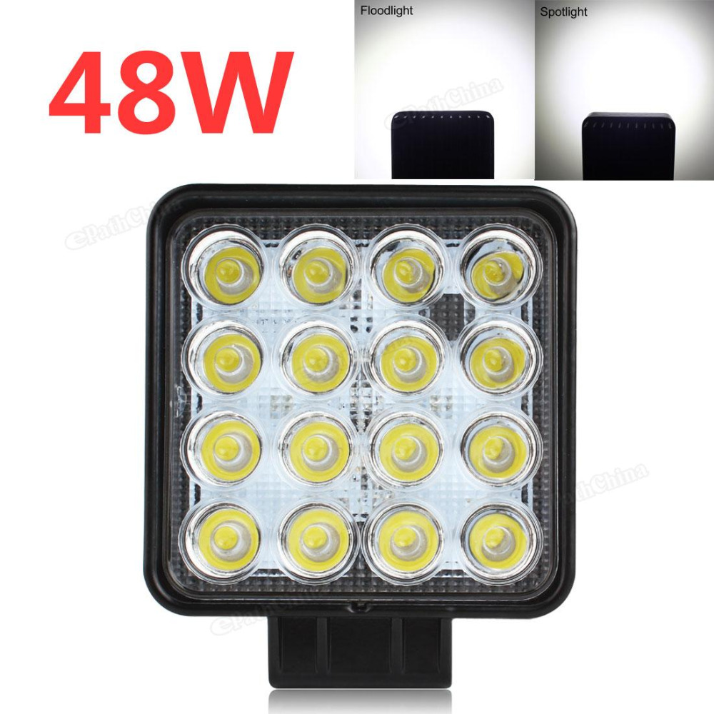 3200LM 48W 4 Inch High Power Square Car Offroad LED