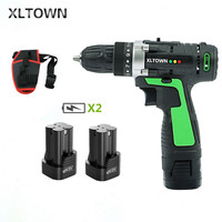 XLTOWN new 16.8v Electric Drill 2 battery Electric Screwdriver Rechargeable Two Speed Electric Screwdriver Household power tools