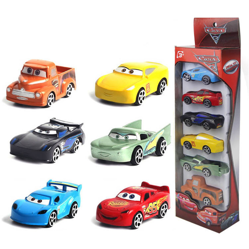 Toys & Hobbies Alert 6pcs Disney Pixar Cars Lighting Mcqueen Mater Diecast Cars Kid Toy Set Playset