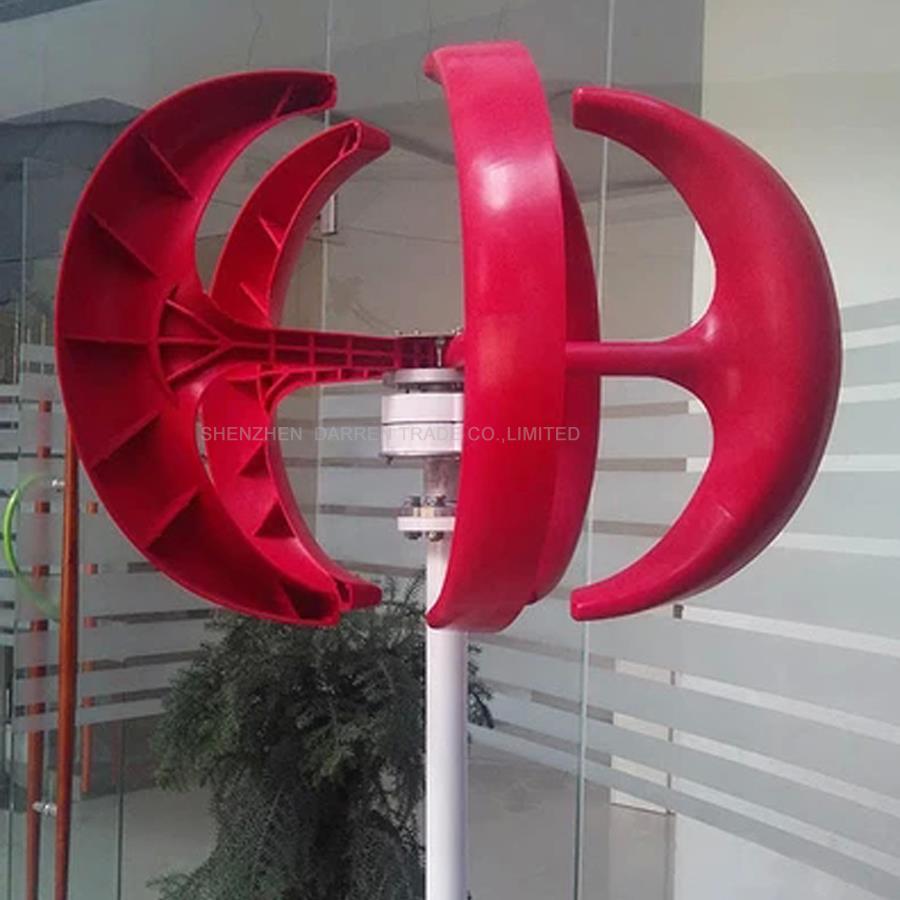 300 W 12 v petit 3 phases AC aimant Permanent Vertical éolienne générateur 5 lames (fibre de verre renforcée) CE RoHS ISO9001