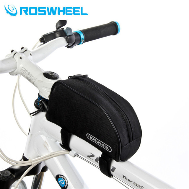 Roswheel Road Mountain Bike Bag 600D Polyester Front Saddle Bag Bicycle Top Tube Bag MTB Cycling Pouch Bicycle Accessories
