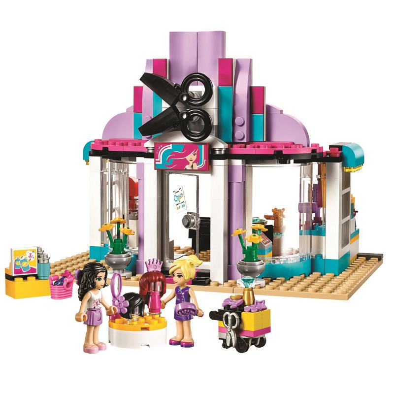 Pogo Lepin Bela 10539 341Pcs 41093 Heartlake Hair Salon Kits Girls Friends Building Blocks Bricks Toys Compatible Legoe lego парикмахерская 41093