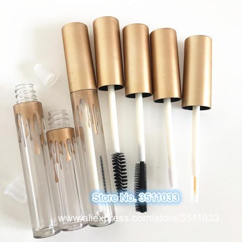 Güzellik ve Sağlık'ten Doldurulabilir Şişeler'de 50 adet Sevimli Temizle Maskara Tüp DIY Altın kapaklı kap Boş Dudak Parlatıcısı Tüp Küçük Kozmetik Eyeliner Doldurulabilir Konteyner 2.5ml 3.5ml'da  Grup 1