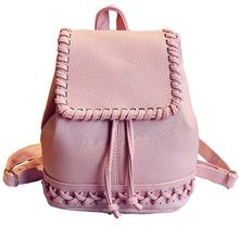 2016 New Korean Backpacks Fashion PU Leather Shoulder Bag Crocodile Pattern Small Backpack Embossed School Bag BOLSAS Hot XA559B