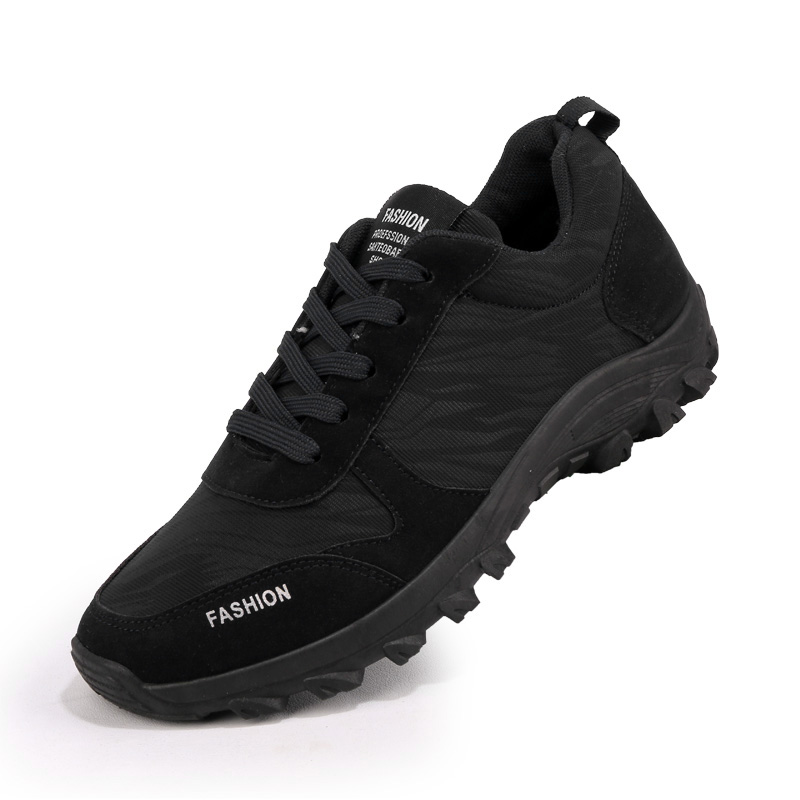 Hiking Shoes Mens Sport Sneakers Autumn Winter Men Trekking Boots Leather Walking Sneakers Male Black Blue Sport Climbing Shoe