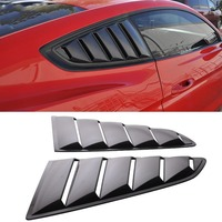 GT Style PP Ingot Silver Side Window Louvers For Ford For Mustang 2015 2017 Quarter Side