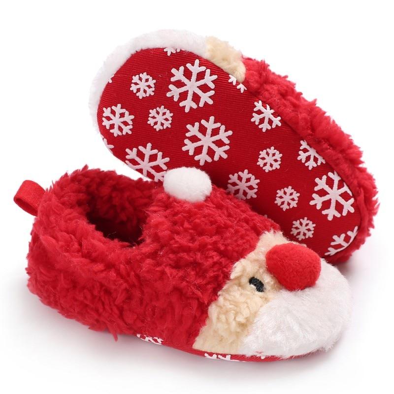 2018 Kids Infant Toddler Newborn Lovely Shoes New Winter Christmas Baby Girls Boys Plus Velvet Shoes First Walkers