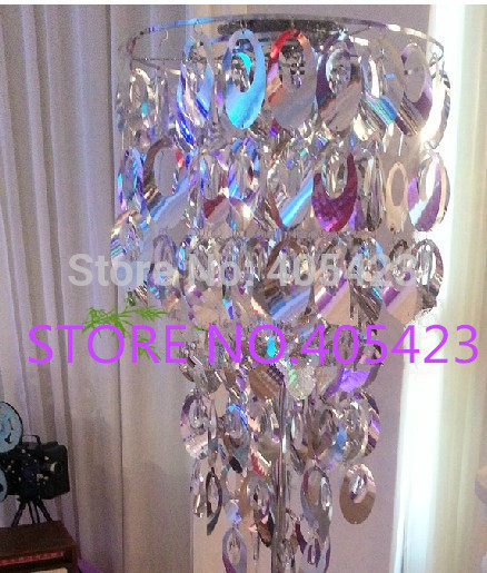 6pcs lot New style fashion DIa 46cm Height 84cm sequins road lead chandelier props for Wedding