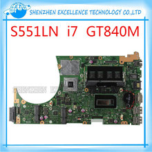 for ASUS S551LB S551LN S551LA motherboard GT840M 2GB N15S-GT-S-A2 with i7-4500 cpu SR16Z mainboard 100% Tested