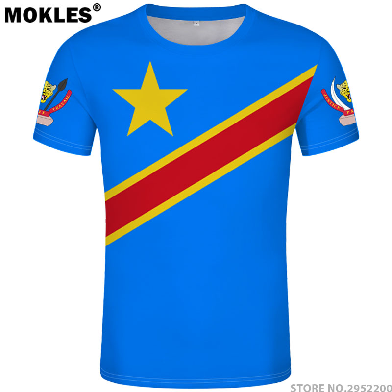 ZAIRE   t     shirt   diy free custom made name number zar   t  -  shirt   nation flag za congo country french republic text print photo clothes