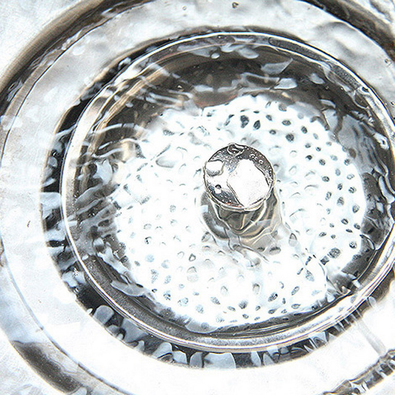 hot new design 1 pc home kitchen sink drain strainer stainless steel mesh basket strainer p0 - Kitchen Sink Drain