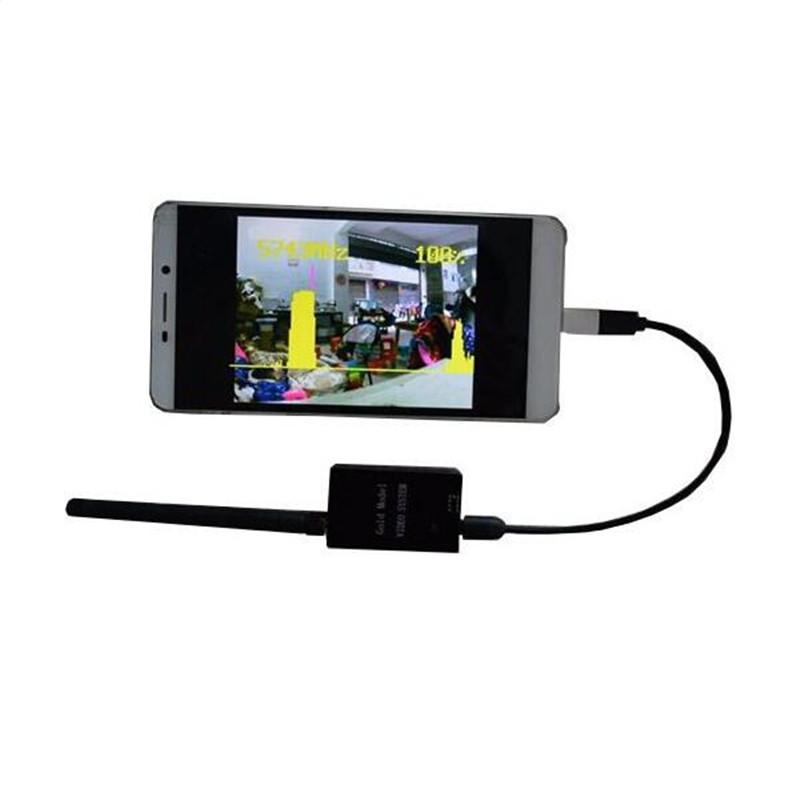 Hot New 5.8G 32CH OTG FPV Receiver For Smart Phone PC Monitor fpv mini 5 8g 150ch mini fpv receiver uvc video downlink otg vr android phone tablet pc fpv mobile phone display receiver