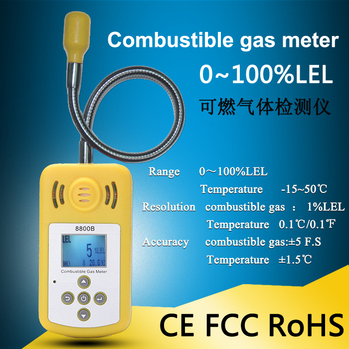 Newest Gas Detector Gas Alarm Combustible Gas Leak Detector Adjustable Sound Light Alarm Tester for Home Office Security halogen gas detector alarm freon cfc hfc hcfc refrigerant gas leak detector aicool gas analyzer r134a refrigerant