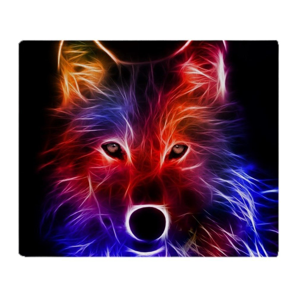 Custom Creative Design Blanket Glowing Wolf Soft Fleece Throw Blanket for Sofa Bed Car Couch