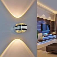 6 w AC85 265V Alta Potência de Alumínio LEVOU Lâmpada de Parede levou Moderno Home Hotel Bar Decoração Iluminação Interior Luzes de Parede PB90|Luminárias de parede|Luzes e Iluminação -