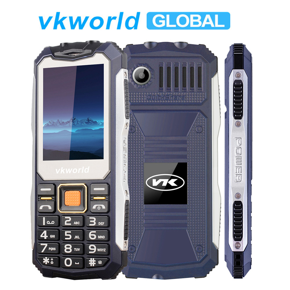 VKWorld Stone V3S Waterproof Dustproof MobilePhone 2.4 inch Anti-Low Temperature 2200mAh Long Standby Dual LED FM Radio Phones(China)